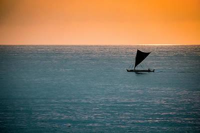 Photograph - Hawaiian Outrigger Canoe by Mary Lee Dereske