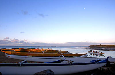 Hawaiian Outrigger Canoes Art Print by Kevin Smith
