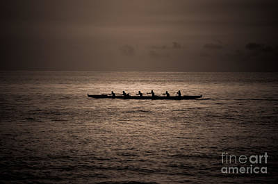 Art Print featuring the photograph Hawaiian Outrigger by Kelly Wade