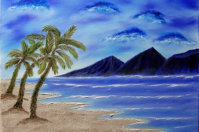 Hawaiian Palms Art Print by Marie Lamoureaux