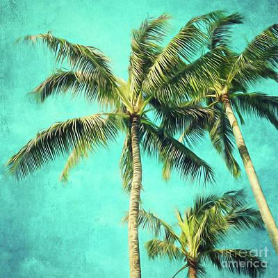 Vintage Baseball Players Rights Managed Images - Hawaiian palms Royalty-Free Image by Sylvia Cook