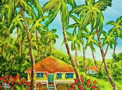 Hawaiian Plantation Home #390 Art Print by Donald k Hall