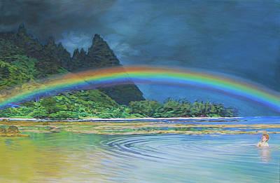 Hawaiian Rainbow Art Print