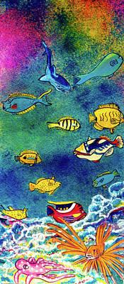 Hawaiian Reef  Fish #223 Art Print by Donald k Hall