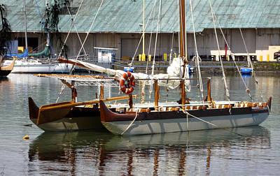 Photograph - Hawaiian Sailing Canoe by Chuck Snyder