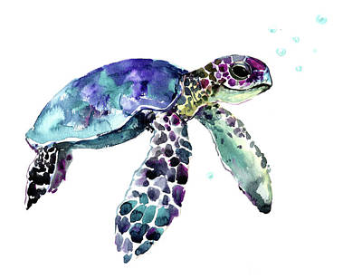 Painting - Hawaiian Sea Turtle by Suren Nersisyan