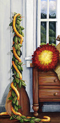 Interior Still Life Painting - Hawaiian Still Life Panel by Sandra Blazel - Printscapes