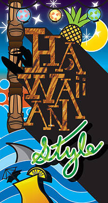 Hawaiian Style Art Print by Devin Green