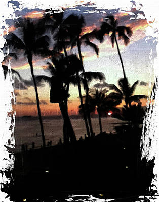 Photograph - Hawaiian Sunset 2 by Ann Tracy