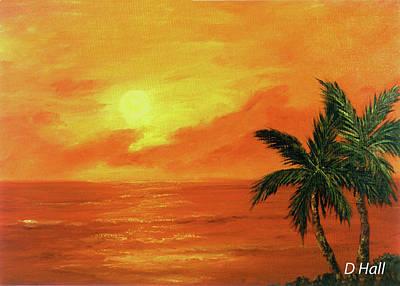 Hawaiian Sunset #27 Art Print by Donald k Hall
