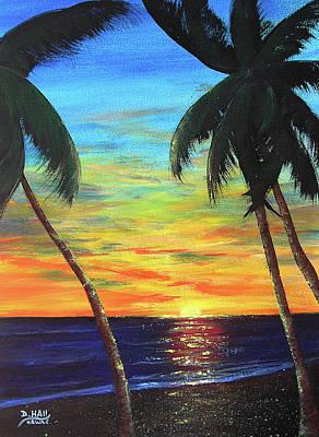 Hawaiian Sunset #340 Art Print by Donald k Hall