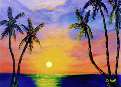 Hawaiian Sunset #36 Art Print by Donald k Hall