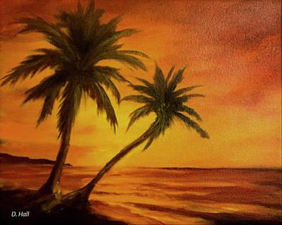 Hawaiian Sunset #380 Art Print by Donald k Hall
