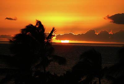 Art Print featuring the photograph Hawaiian Sunset by Anthony Jones