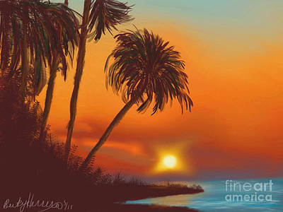 Painting - Hawaiian Sunset by Becky Herrera