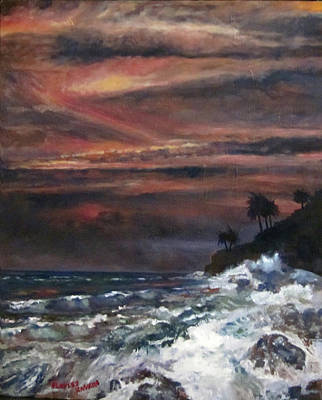 Painting - Hawaiian Sunset by Bradley Kaskin