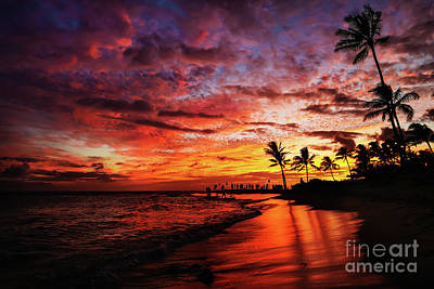 Photograph - Hawaiian Sunset by M G Whittingham