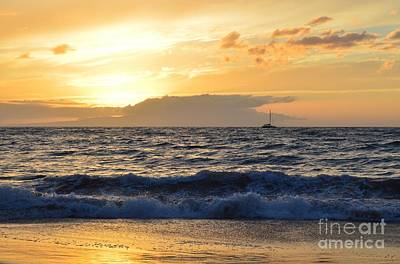 Photograph - Hawaiian Sunset by Michelle Welles