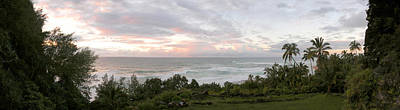 Photograph - Hawaiian Sunset Panoramic Ocean Vista by Jeff Schomay