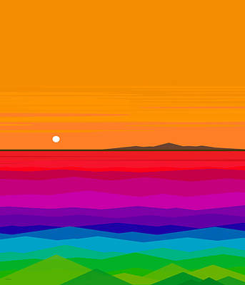 Digital Art - Hawaiian Sunset by Val Arie