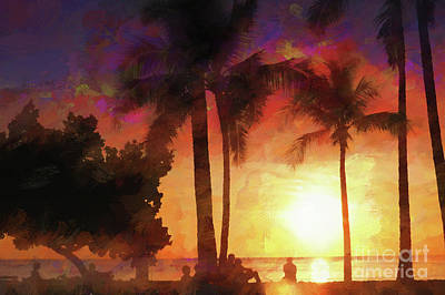 Keith Richards - Hawaiian Sunset - Waikiki by Scott Cameron