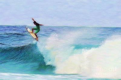 Waikiki Photograph - Hawaiian Surfer Abstract Nbr. 2 by Scott Cameron