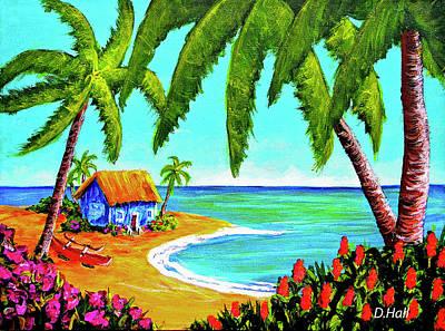 Hawaiian Tropical Beach  #364 Art Print by Donald k Hall