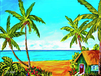 Hawaiian Tropical Beach #366  Art Print by Donald k Hall