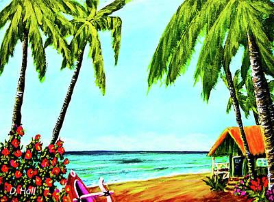 Hawaiian Tropical Beach #367  Art Print by Donald k Hall