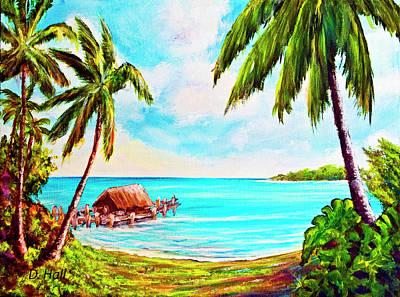 Hawaiian Tropical Beach #388 Art Print by Donald k Hall