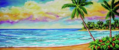 Hawaiian Tropical Beach #408 Art Print by Donald k Hall