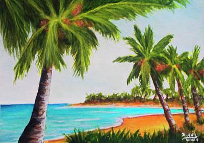 Hawaiian Tropical Beach #429 Art Print by Donald k Hall