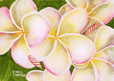 Hawaiian Tropical Plumeria Flower #483 Art Print by Donald k Hall