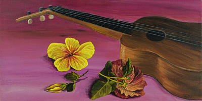 Painting - Hawaiian Ukulele by Darice Machel McGuire