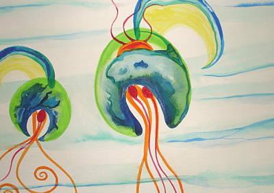 Painting - Hawaiian Warrior Jellyfish by Erika Swartzkopf