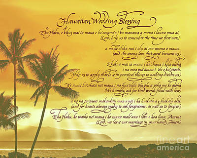 Digital Art - Hawaiian Wedding Blessing-sunset by Jacqueline Shuler