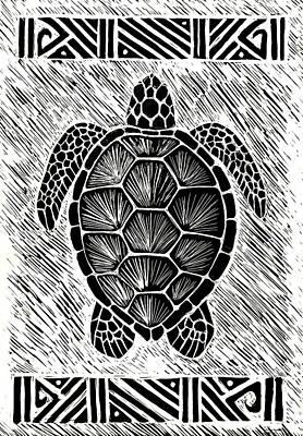 Hawaii Sea Turtle Painting - Hawaiiana Honu by Kirsten Carlson