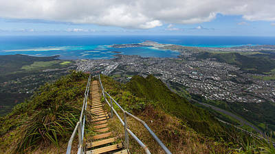 Haiku Wall Art - Photograph - Hawaii's Haiku Stairs by S