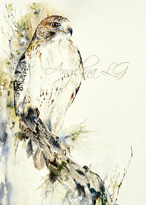 Painting - Hawk by Angelina Ligomina