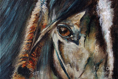Painting - Hawk by Barbie Batson