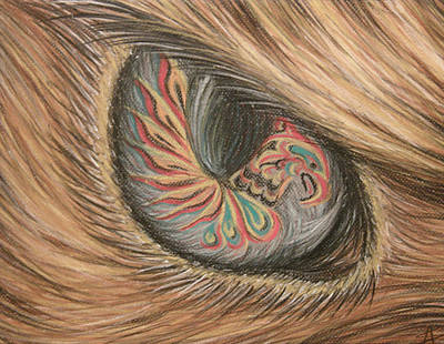 Hawk Eye Thunderbird Art Print by Alysa Sheats