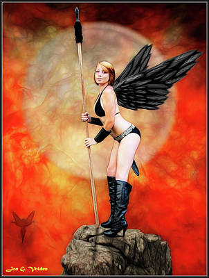 Photograph - Hawk Girl With A Spear by Jon Volden