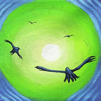 Painting - Hawk Glow 1 by JJ Long