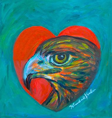 Painting - Hawk Heart by Kendall Kessler