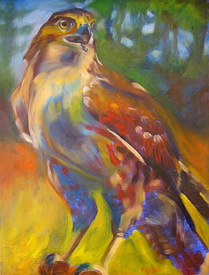 Painting - Hawk by Kaytee Esser