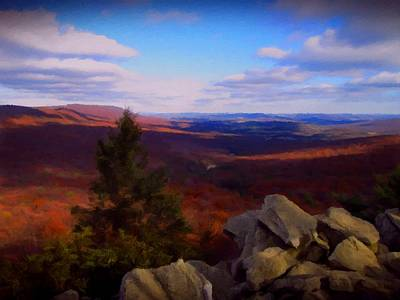 Print featuring the photograph Hawk Mountain Pennsylvania by David Dehner