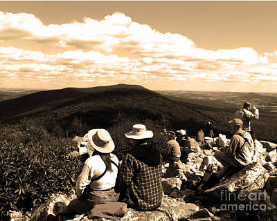 Photograph - Hawk Mountain In Sepia by Donna Brown