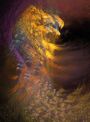 Loon Digital Art - Hawk by Phil Sadler