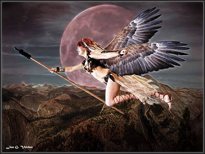 Photograph - Hawk Woman  Heorine by Jon Volden