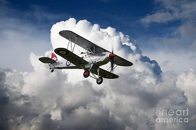 Fury Digital Art - Hawker Fury by J Biggadike